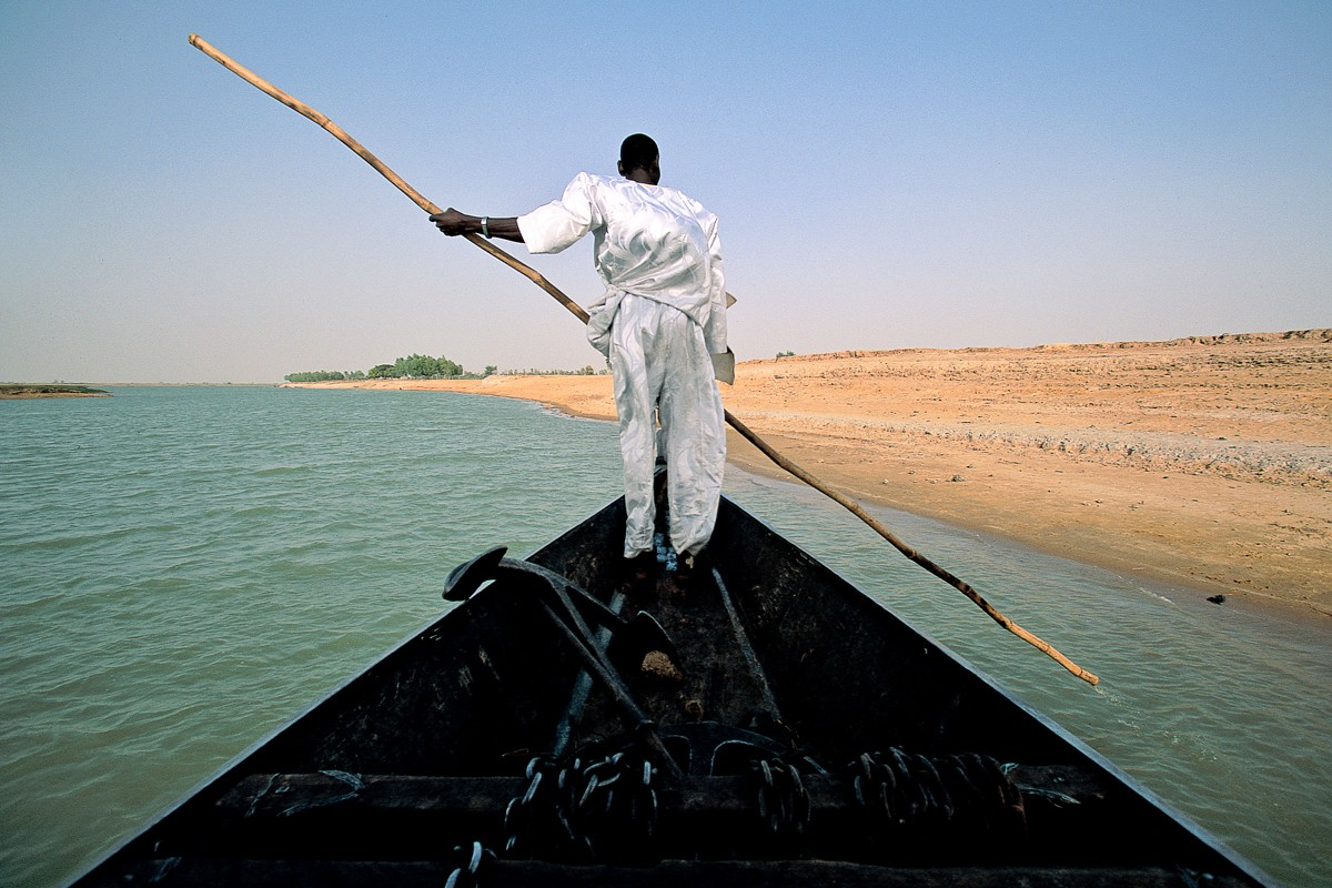 The River Niger, Mali, during the Sahara with Michael Palin trip, in 2001.