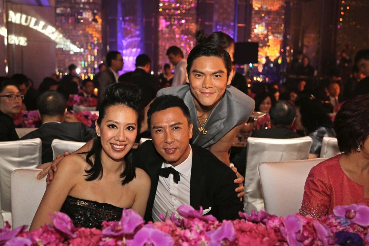 (From left): Cissy Wang, Donnie Yen and Jacky Heung