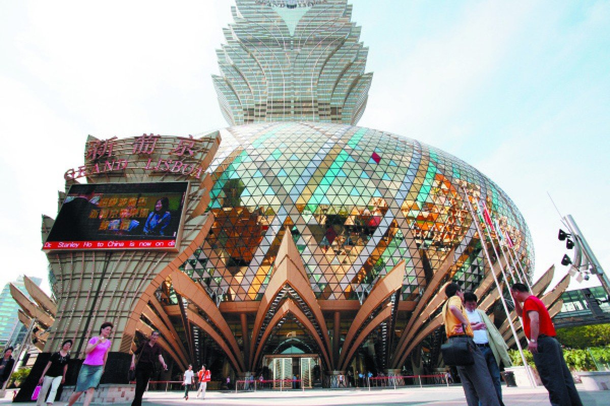 Designed to resemble a lotus flower, Macau's Grand Lisboa is more reminiscent of a pineapple.