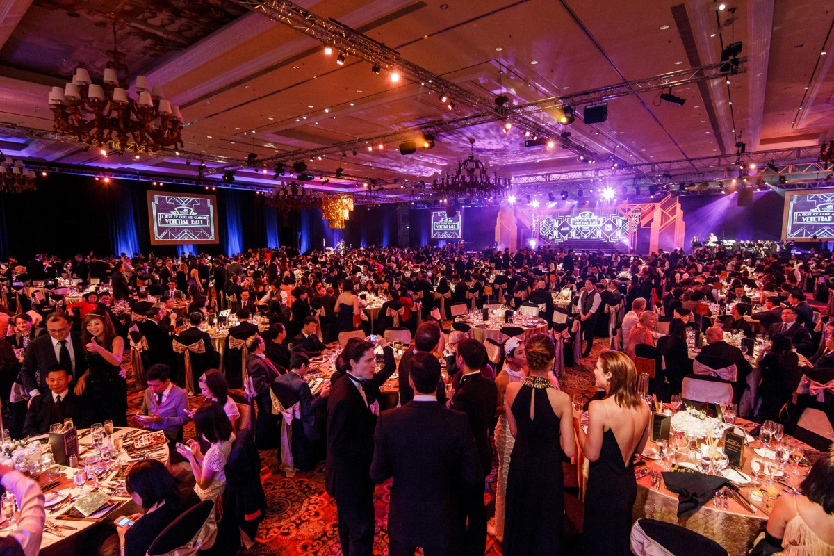Guests party up a storm at the Gatsby-themed Venetian Ball.