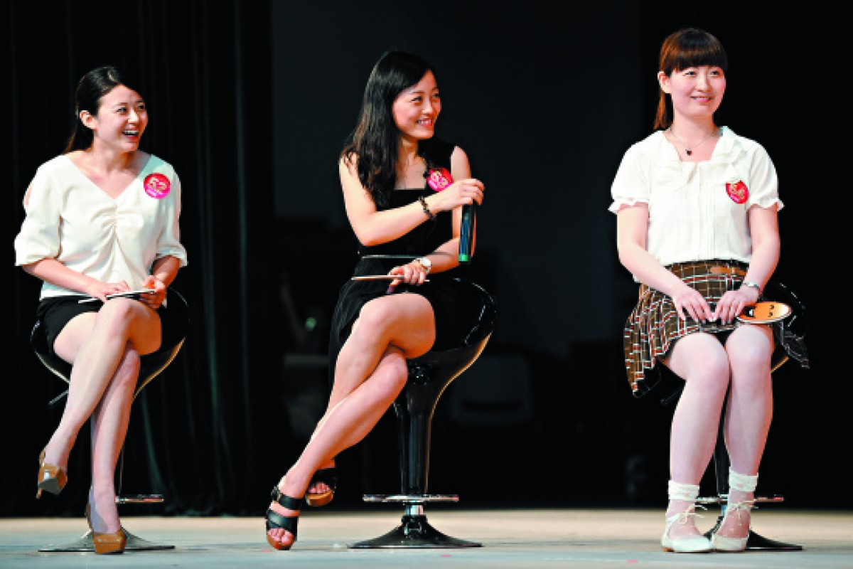 Single women at the Shanghai Matchmaking Expo in 2012.