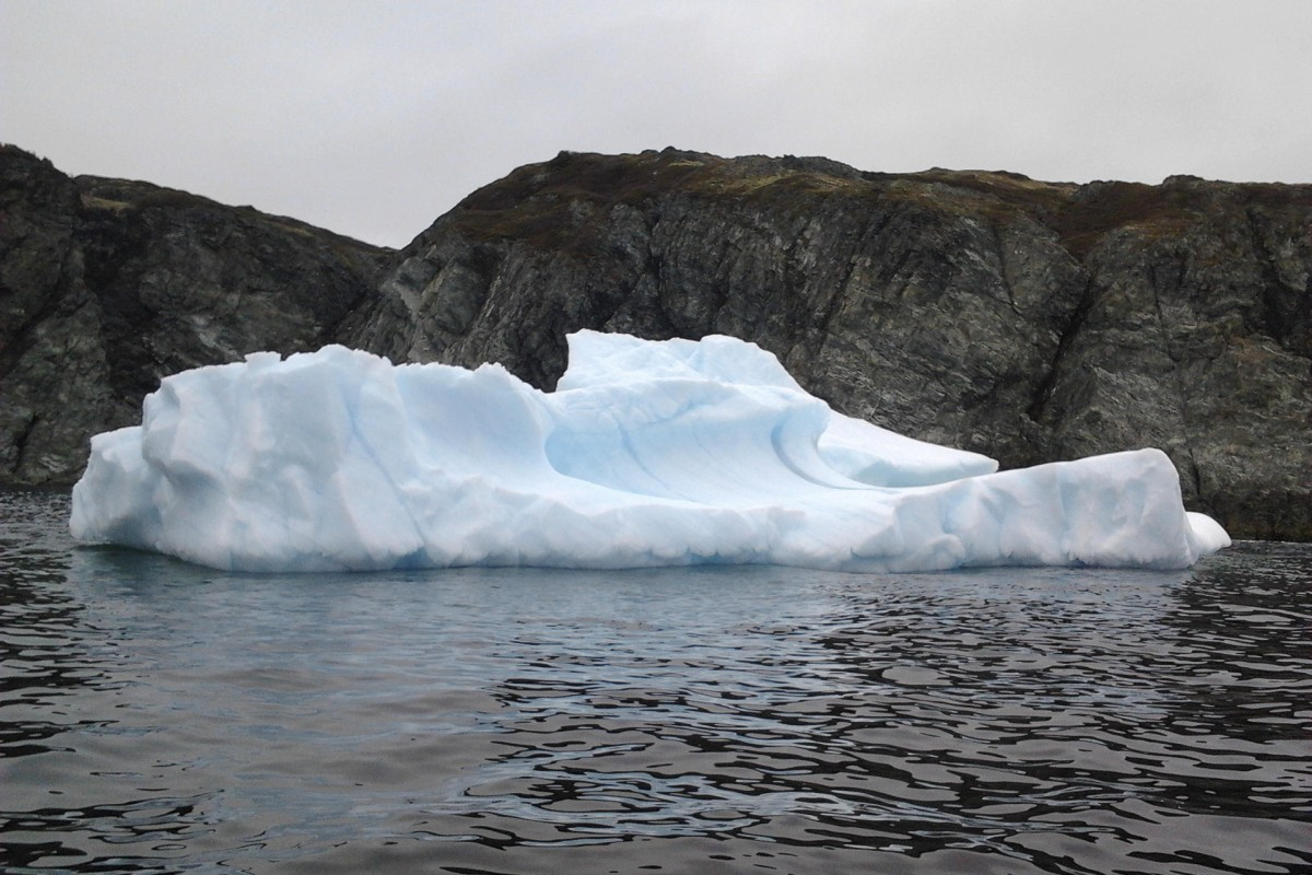 A 'berg floats near St Anthony's harbour.