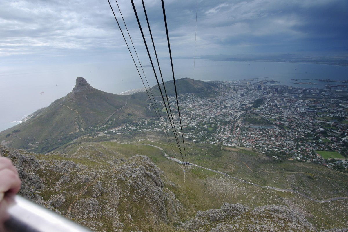 Cape Town, as seen from Table Mountain.