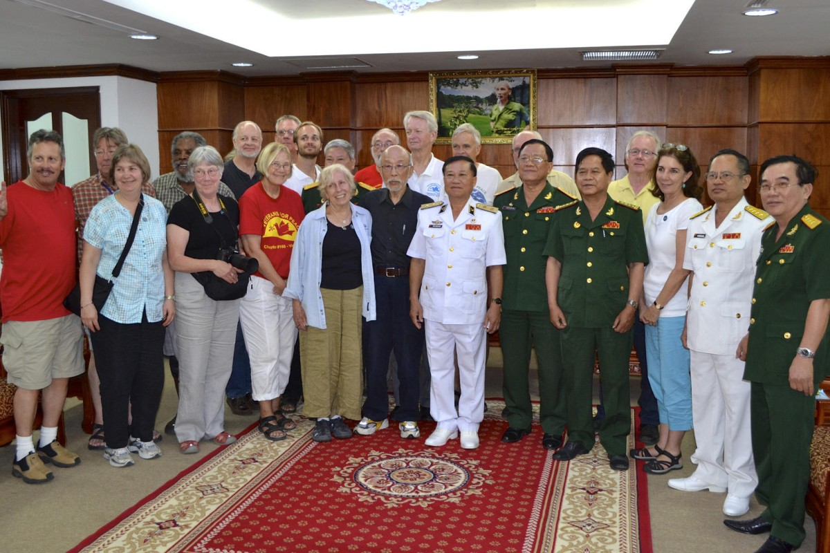 United States war veterans and peace activists meet with Vietnamese war veterans in Ho Chi Minh City in May. Photos: Eric San Juan; AFP