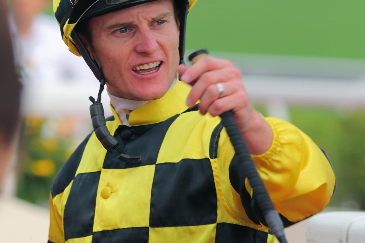 Zac Purton rode five winners at Sha Tin on Sunday, his first five-timer in Hong Kong.
