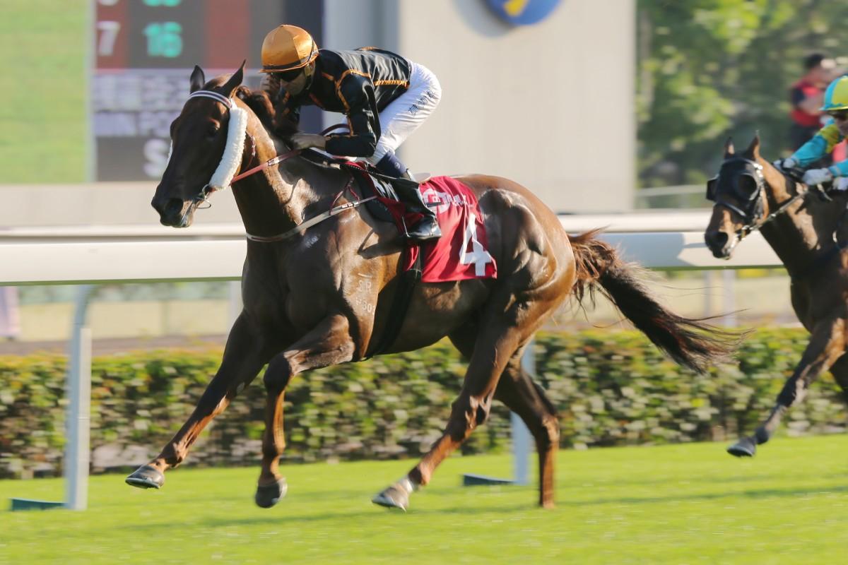 Able Friend waltzes home in last Sunday's Jockey Club Sprint. Photo: Kenneth Chan