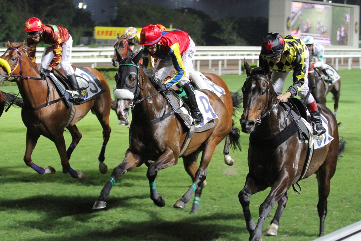 Charter Victoria (centre) finally gets a decent draw and a chance to break through in the opening leg of the TT. Photos: Kenneth Chan