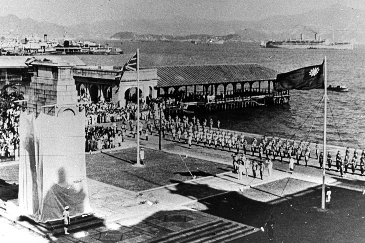 Celebrations to mark Hong Kong's liberation from Japan, in Central, in 1945. Photo: SCMP
