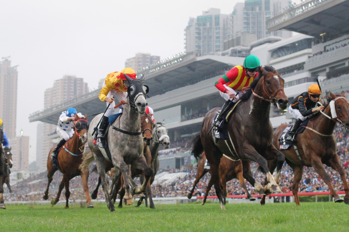 Ryan Moore was one of the stars of the show, breaking local hearts as he took Japanese star Maurice to victory in the Hong Kong Mile.