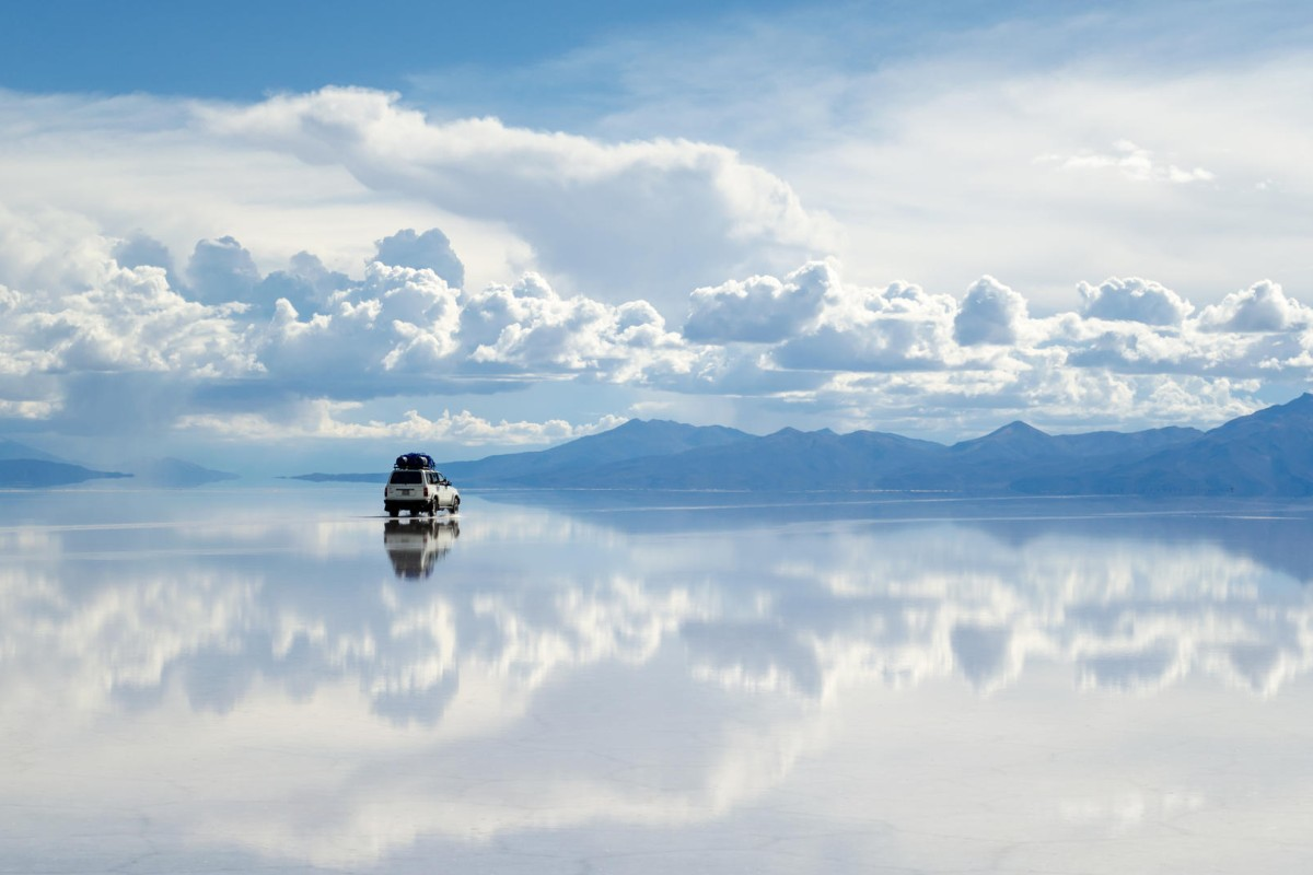 The salt flats are a natural wonder and the only place on earth where the sky and ground merge. Photo: Thinkstock