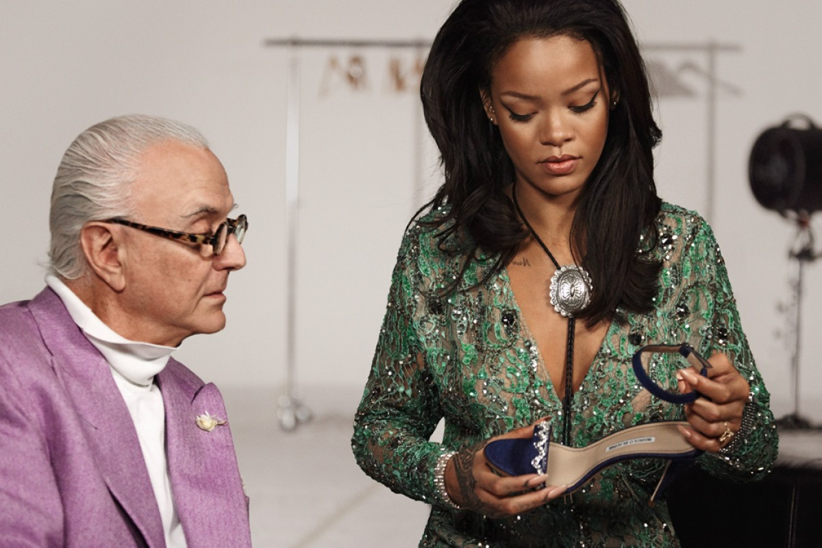 Manolo Blahnik's collaboration with Rihanna is one of only a handful of crossover projects in his long career. Photos: Michael Roberts, Piers Calvert