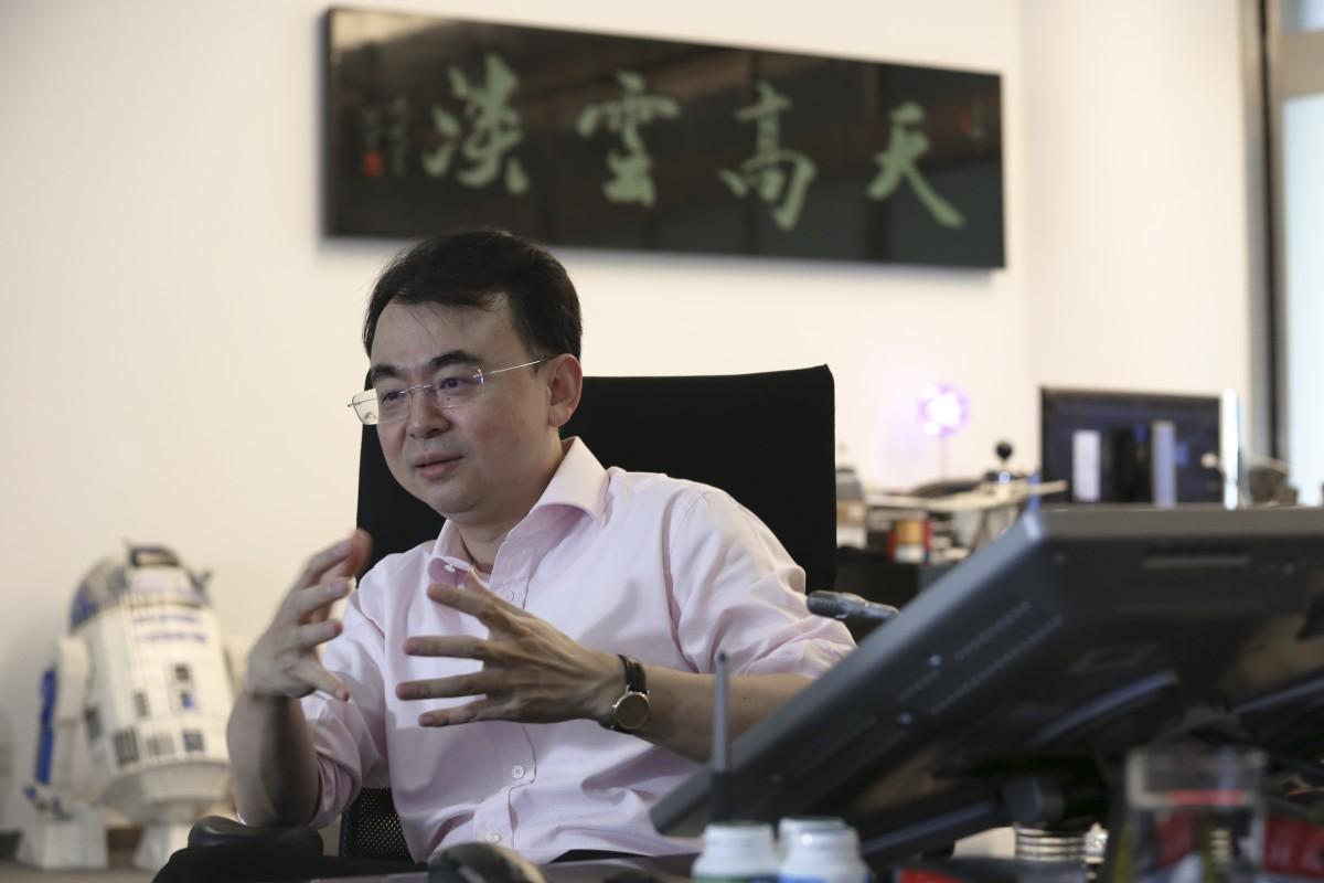 Liu Dejian in his office.