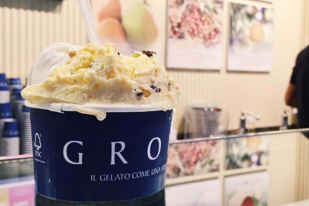 Grom''s Hong Kong store opens in IFC Mall. Photo: Kim Soo-jin