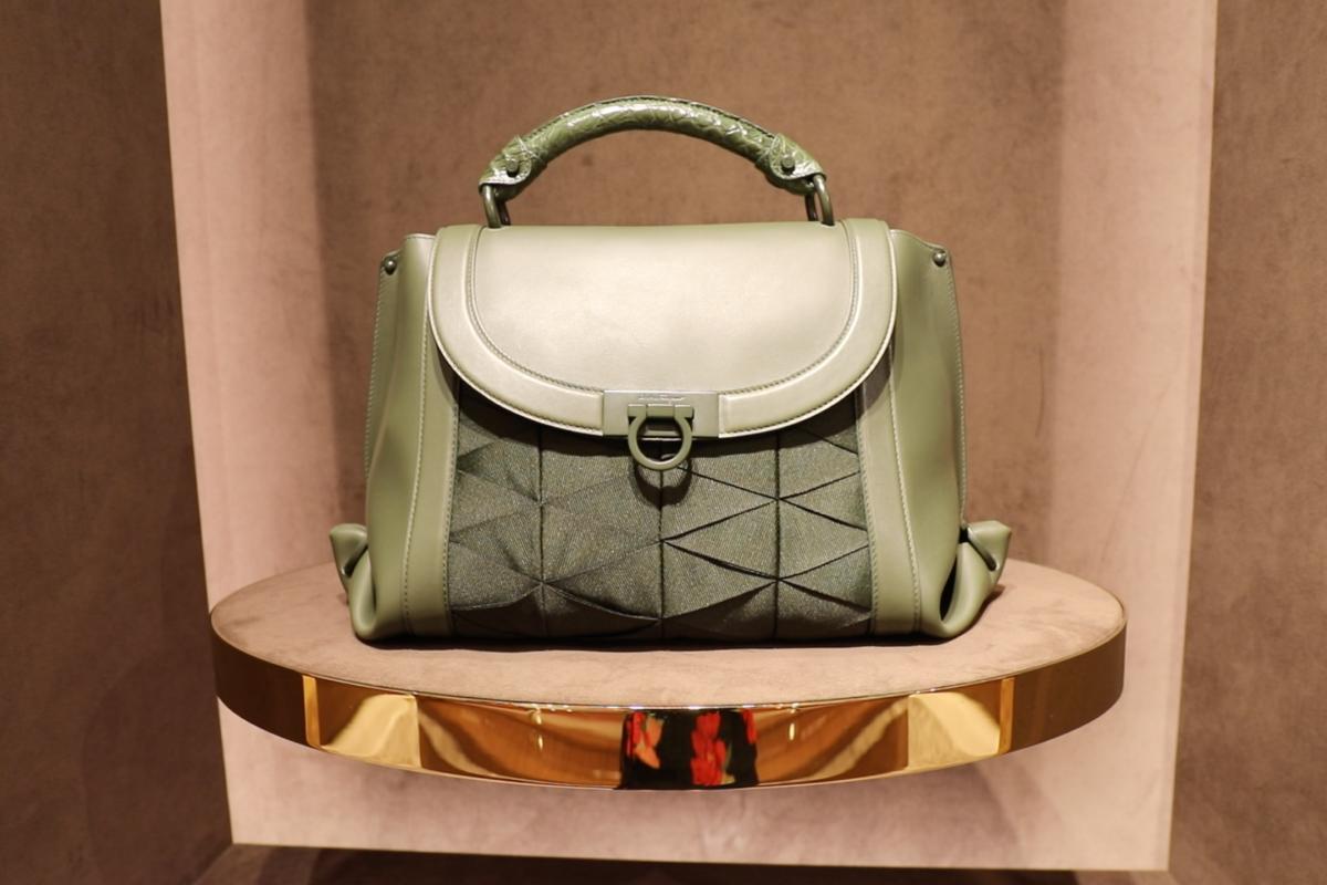 Salvatore Ferragamo Demonstrates Craftsmanship Of Its Soft Sofia Bag