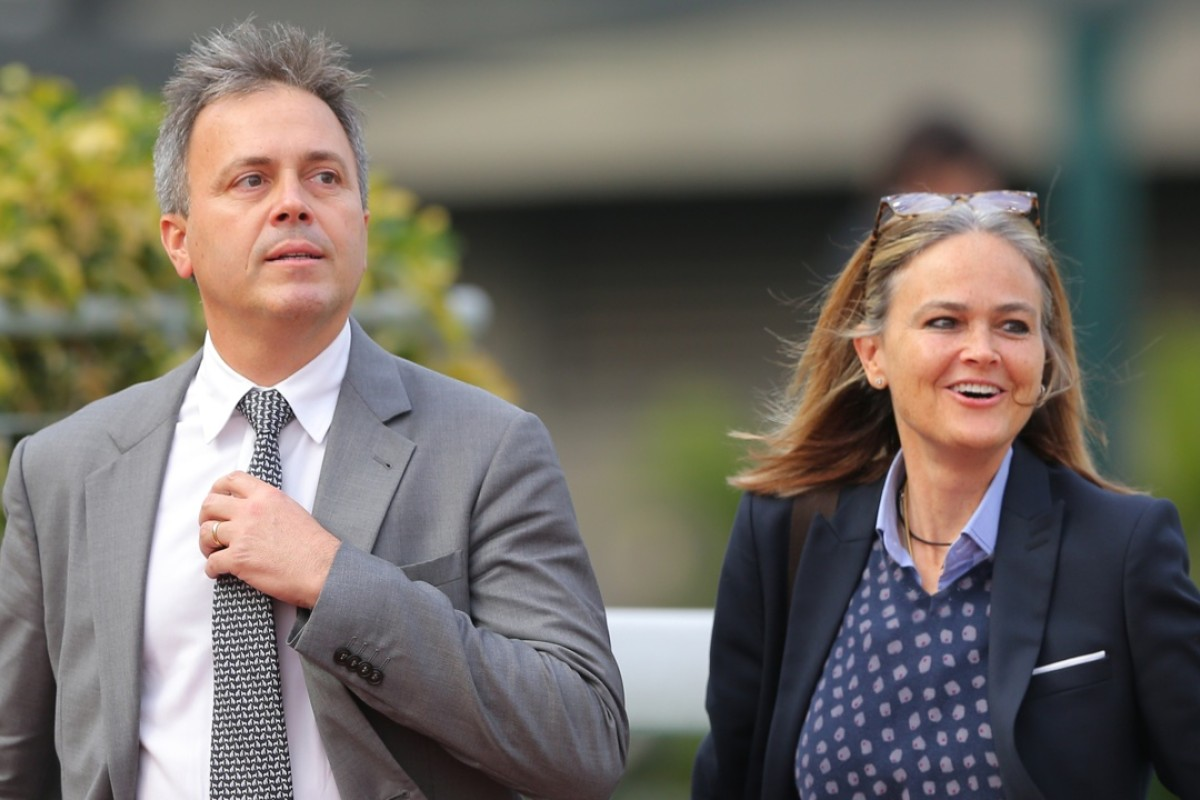 Trainer Caspar Fownes, pictured with sister Fenella after Marvel Hero's win on Sunday, looks poised for a big week, beginning at Happy Valley on Wednesday night. Photo: Kenneth Chan