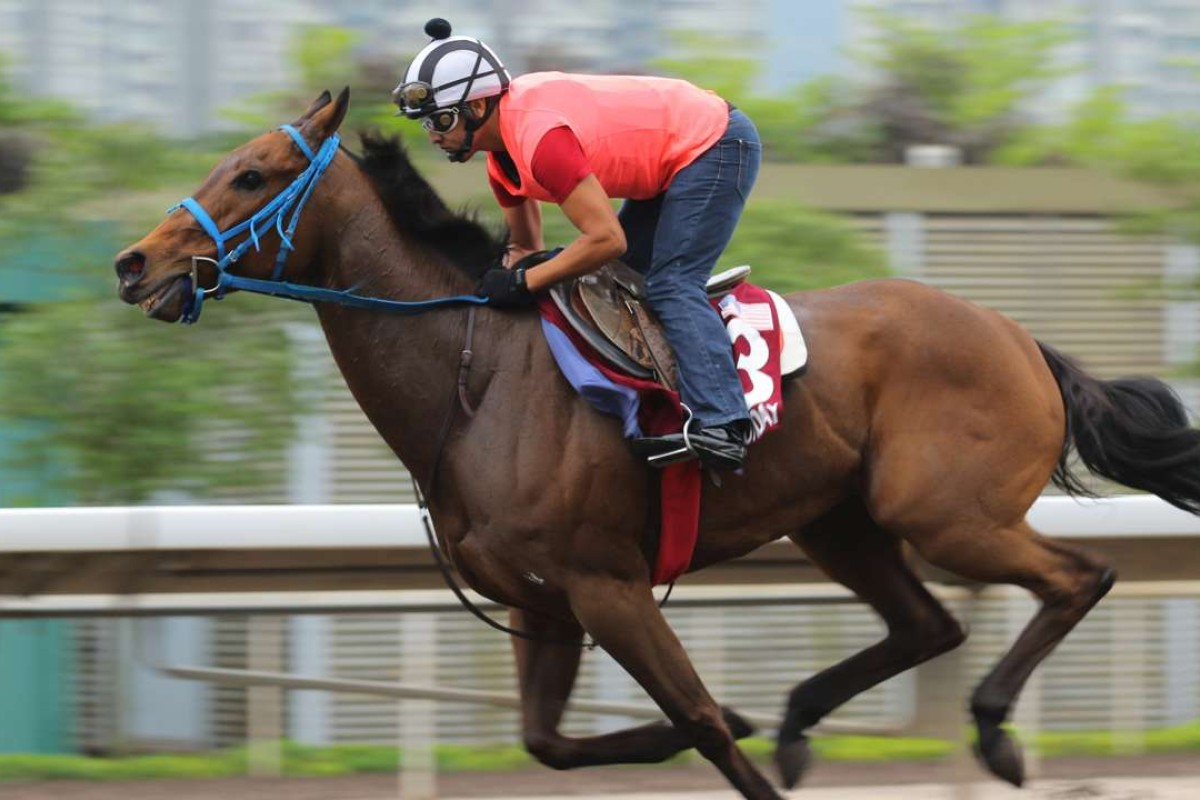 Mongolian Saturday in action at the weekend, when his trainer thought he wasn't given a testing enough effort. Photo: Kenneth Chan