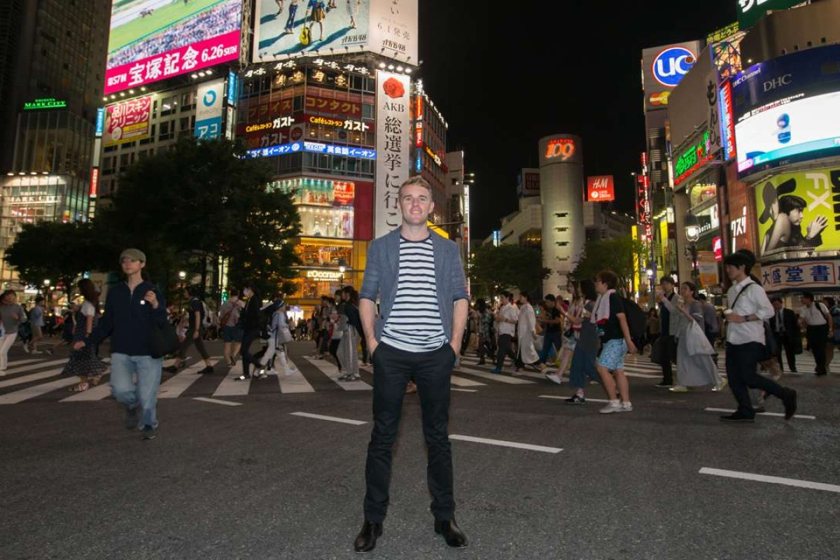 Australian jockey Tommy Berry, pictured at Shibuya crossing in Tokyo, Japan, has taken the horse racing world by storm. Photo: Lo Chun Kit/SCMP Pictures