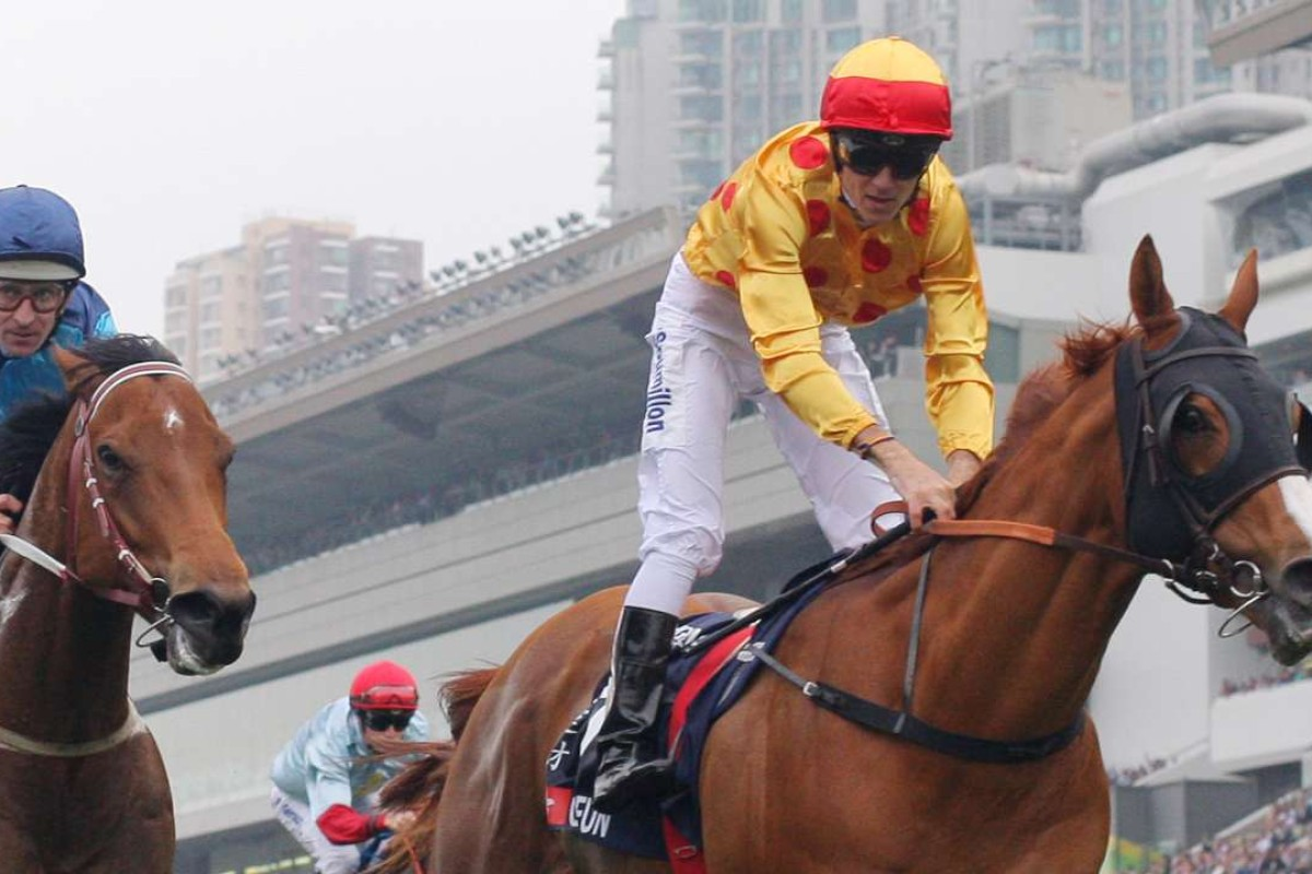 Gold-Fun (right) will head to the Prix Maurice de Gheest at Deauville on August 7. Photo: Kenneth Chan