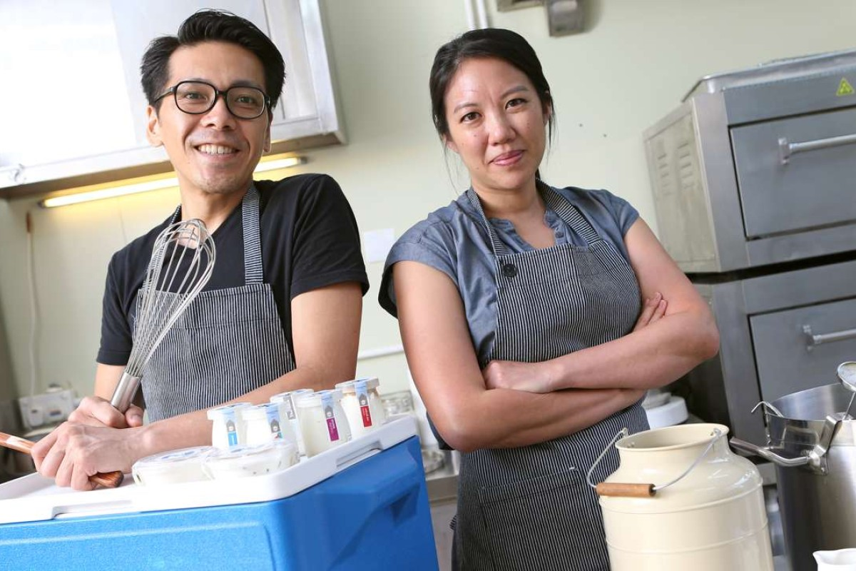 Winy Cheung (left) and Eileen Leung, of the Sour Times Dairy Company. Pictures: K.Y. Cheng