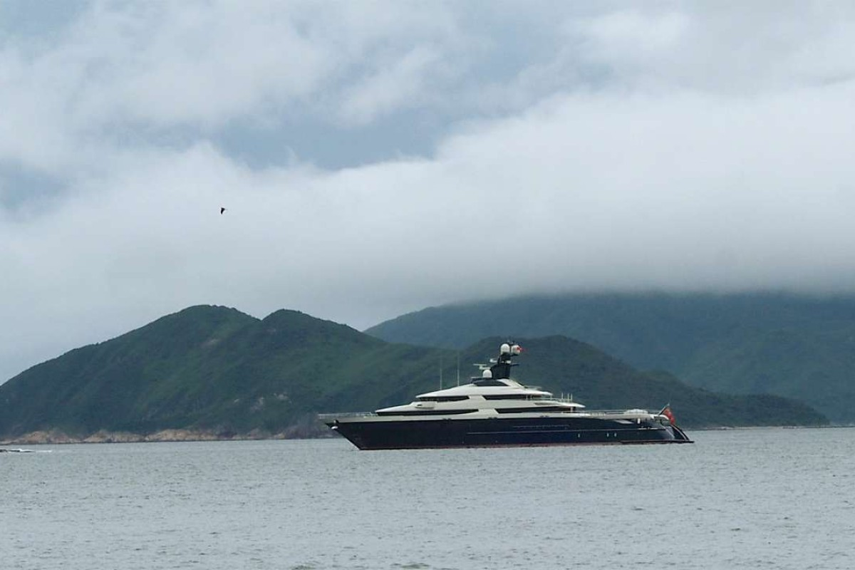 The Equanimity is spotted in waters near Sai Kung, Hong Kong. Photo: Howard Winn