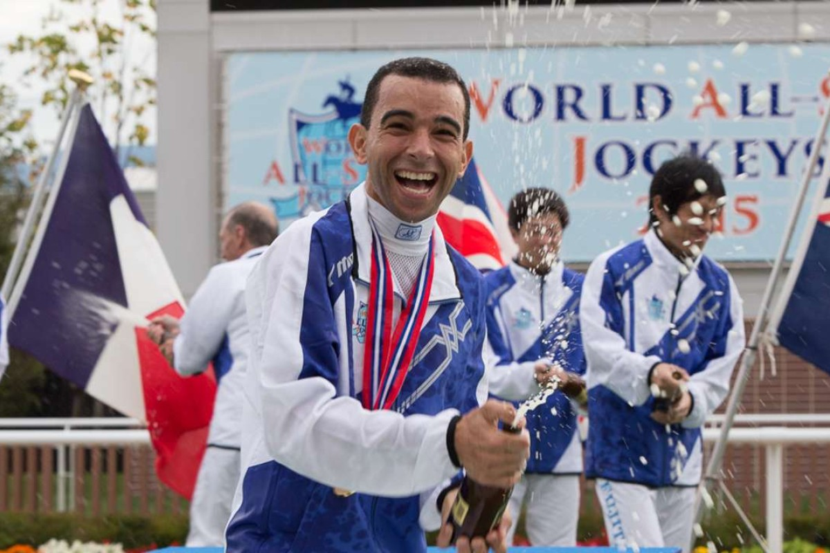 Joao Moreira celebrates winning the All-Star Jockeys in Japan last year. Photos: Japan Racing Association