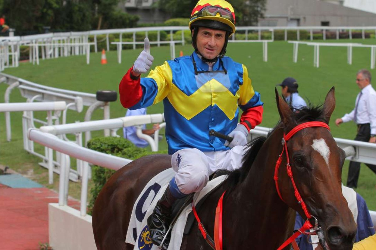 Douglas Whyte was pleased with Smiling Glory's win at Sha Tin. Photos: Kenneth Chan