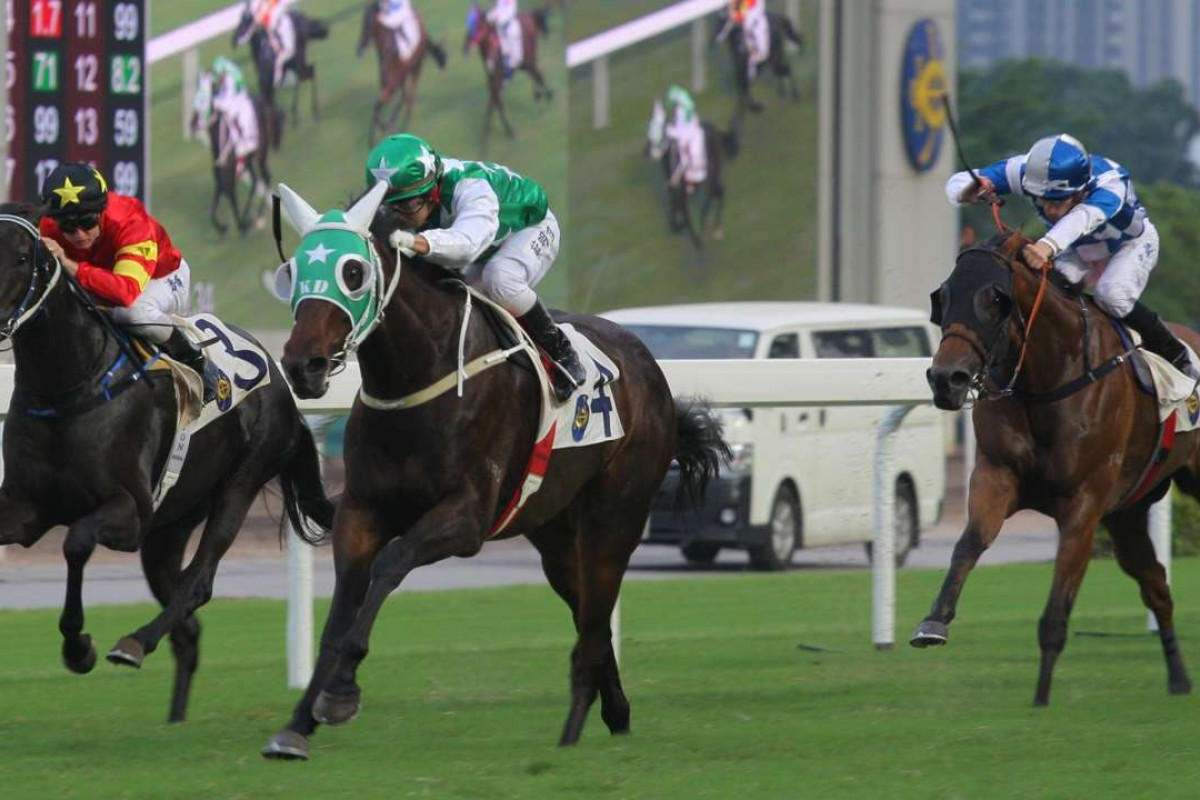 Race 10, Pakistan Star, ridden by Matthew Chadwick, won the class 3 over 1400m at Sha Tin on 18Sep16.