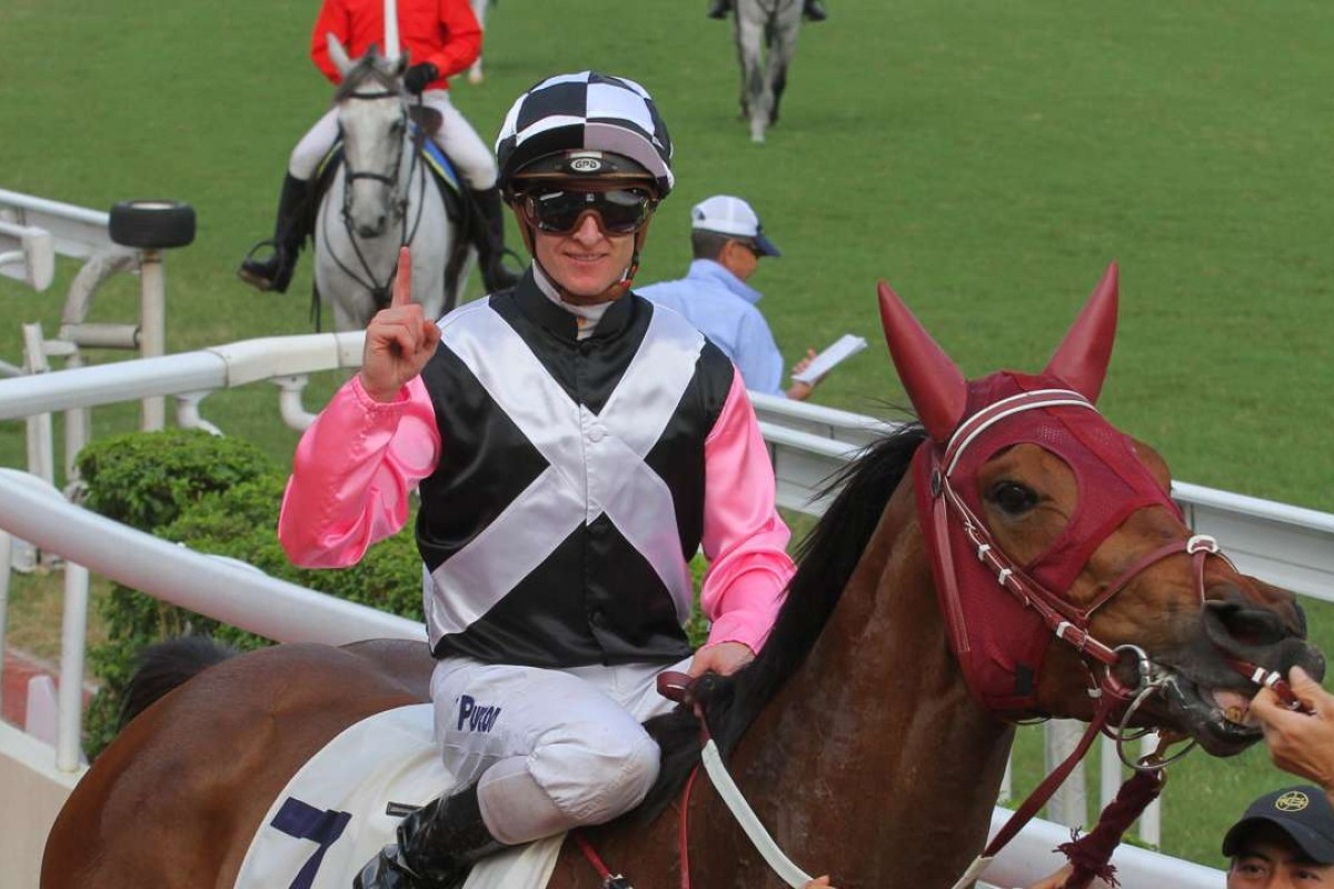 Zac Purton guided Beauty Prince to victory at Sha Tin, one of his four winners for the day. Photos: Kenneth Chan