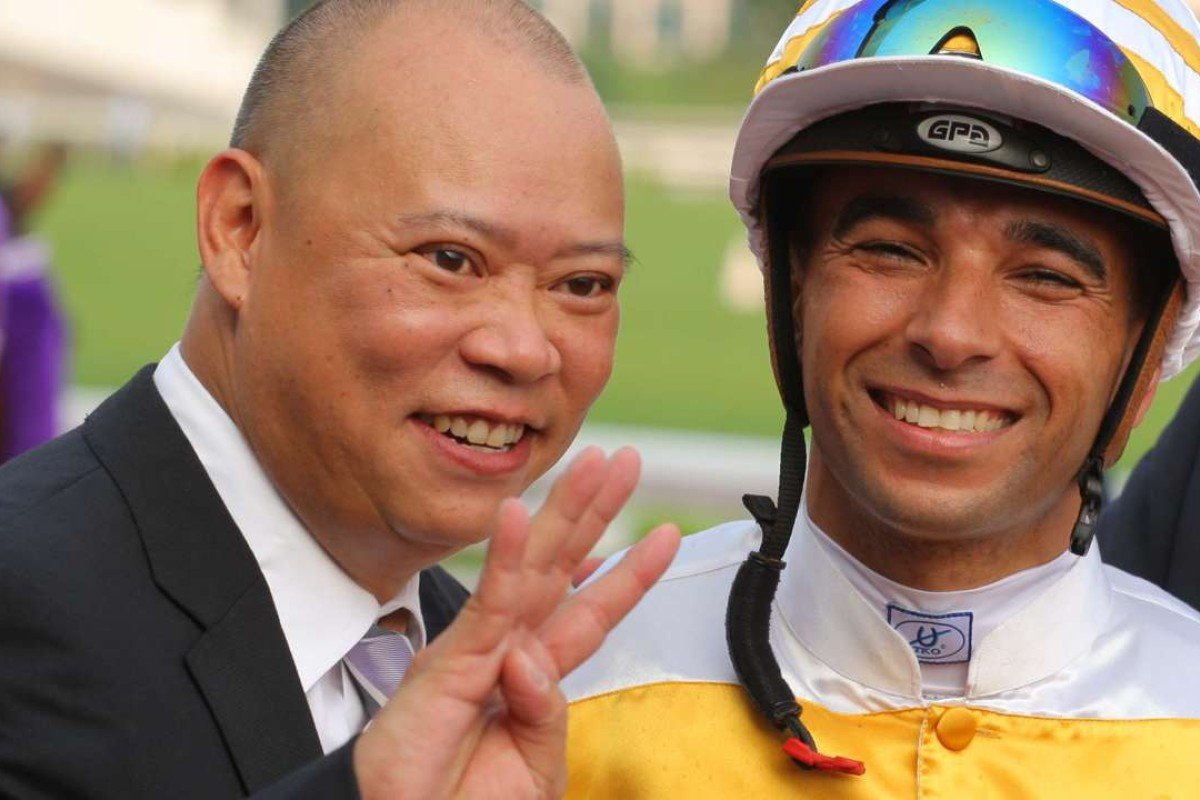 Trainer Chris So counts his winners. Photos: Kenneth Chan