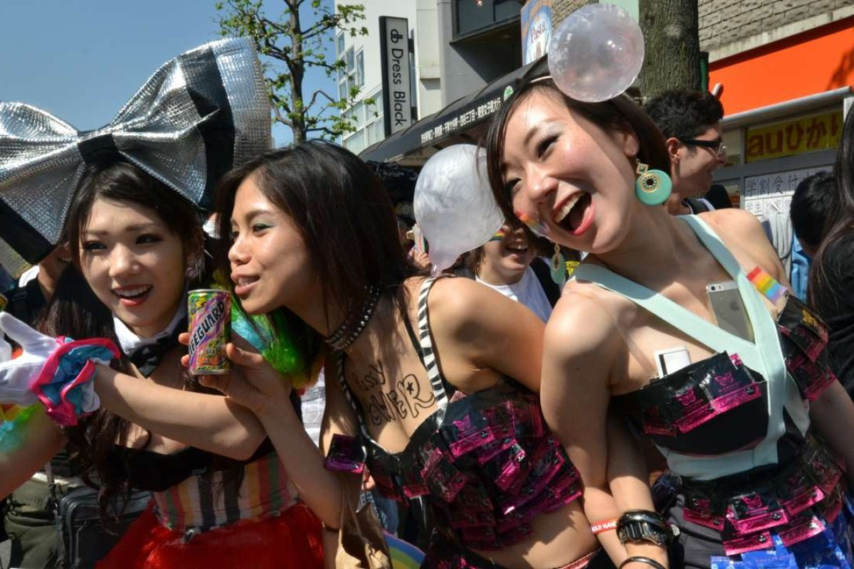 Supporters of the lesbian, gay, bisexual and transgender community (LGBT) take part in the Tokyo Rainbow Pride parade. Photo: AFP