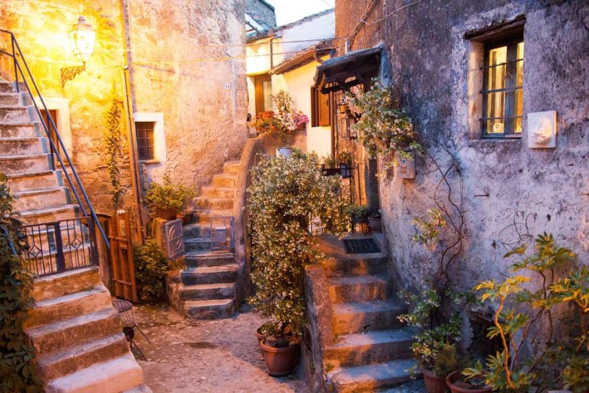 A street scene in Calcata, in Italy's Viterbo province. Pictures: Gary Jones