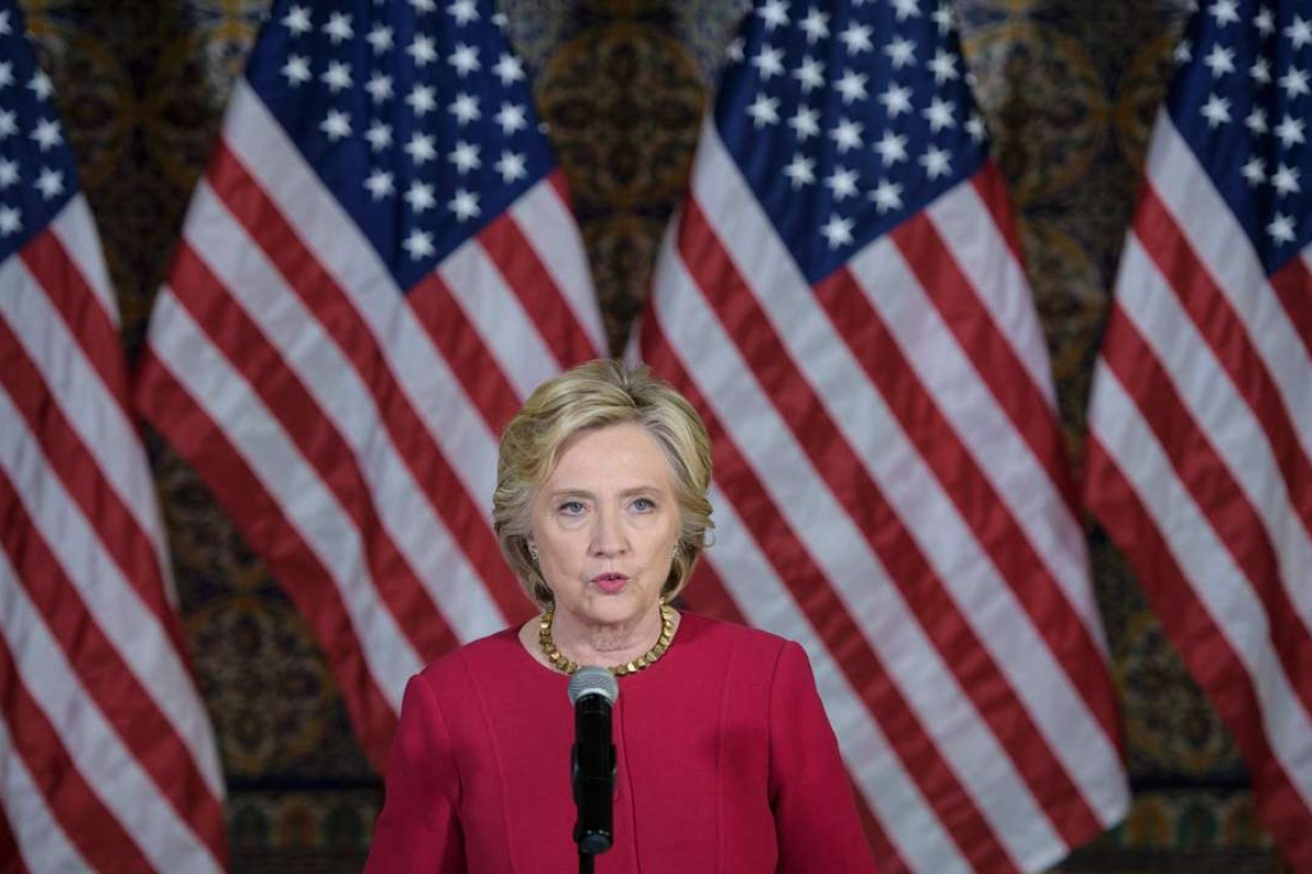 Democratic Presidential Nominee Hillary Clinton Addresses A Voter  Registration Rally At Zenbo Shrine In Harrisburg,
