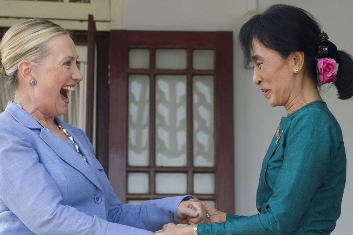 US Secretary of State Hillary Clinton meets Myanmar's pro-democracy leader Aung San Suu Kyi in Yangon, Myanmar, in 2011. The pair are close friends. Photo: AP