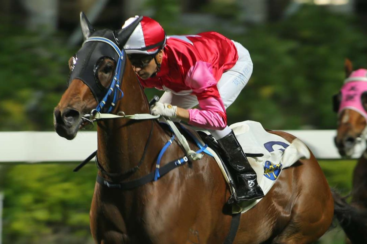 Joao Moreira guides Winnie's Honey to victory. Photos: Kenneth Chan
