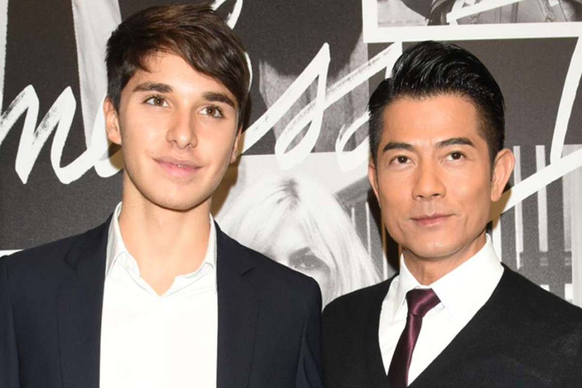 Leonardo Della Valle and Aaron Kwok at Tod's event in Tokyo
