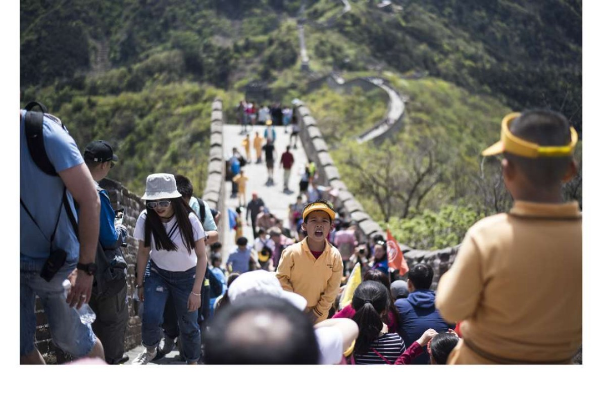 A crowded part of the Great Wall. Picture: AFP