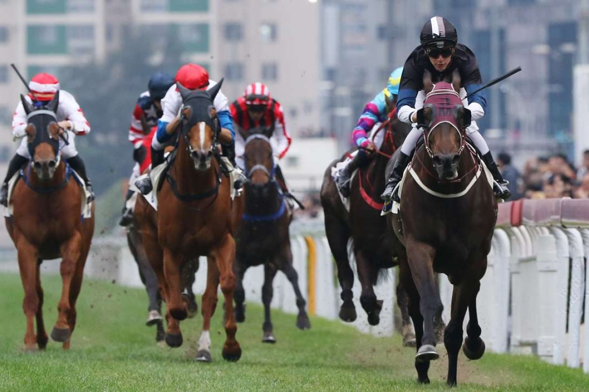 Sam Clipperton steers Bay Boy to victory at Sha Tin on Saturday. Photos: Kenneth Chan
