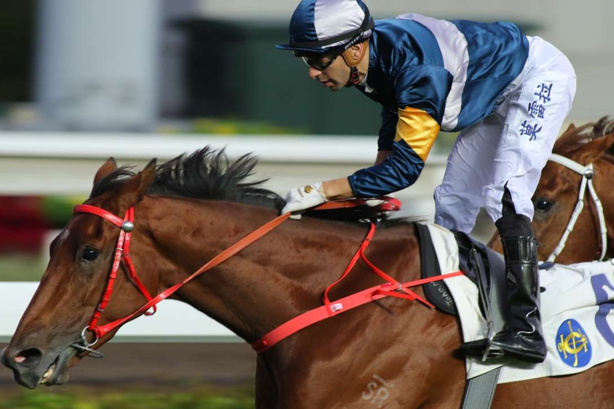Joao Moreira guides the classy My Darling to victory on Tuesday. Photos: Kenneth Chan