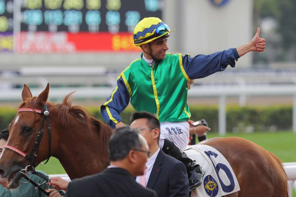 If Blizzard can win the Group Three feature and beat Zac Purton's mount Joyful Trinity, it will go a long way to securing the Jockey Challenge for Joao Moreira. Photos: Kenneth Chan.