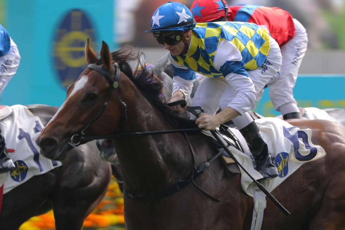 Zac Purton guides Star Of Patch to victory on Sunday. Photos: Kenneth Chan