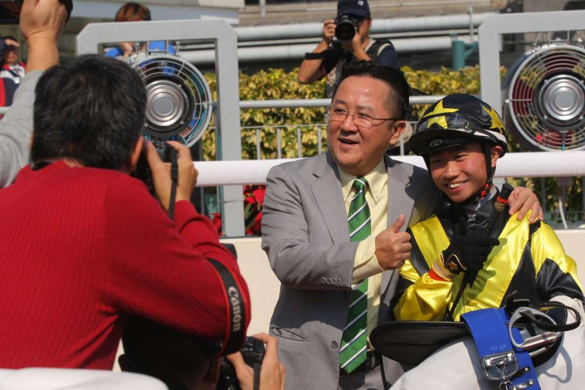 Dylan Mo celebrates his first Hong Kong victory on New Year's Day. Photos: Kenneth Chan