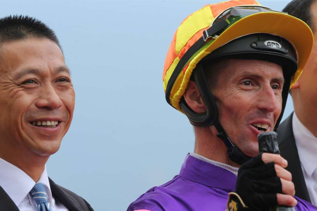 Trainer Danny Shum has formed a strong alliance with jockey Nash Rawiller in recent times and has called upon the Australian to ride Seasons Bloom in the Hong Kong Classic Mile. Photos: Kenneth Chan