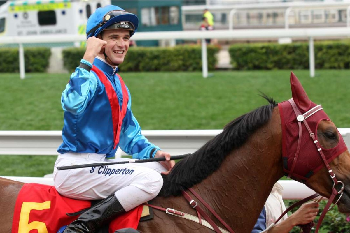 Sam Clipperton is all smiles after saluting on Invincible Dragon. Photos: Kenneth Chan