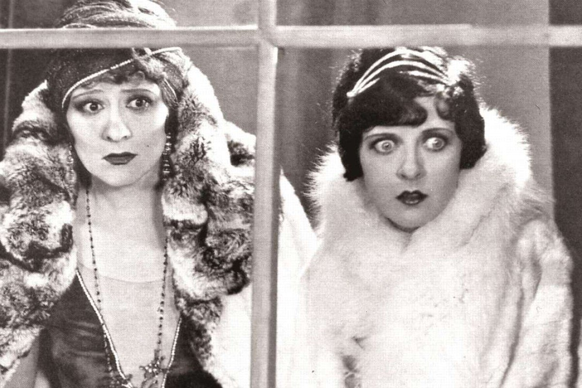 Irene Rich (left) and May McAvoy in Lady Windermere's Fan, directed by Ernst Lubitsch.