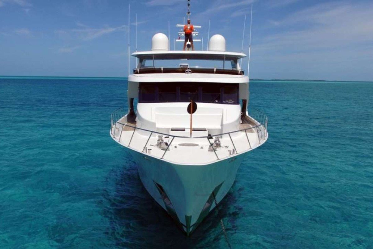 The Reflections yacht has four cabins with private bathrooms, a Jacuzzi, jet skis and a crew of four, including a chef.