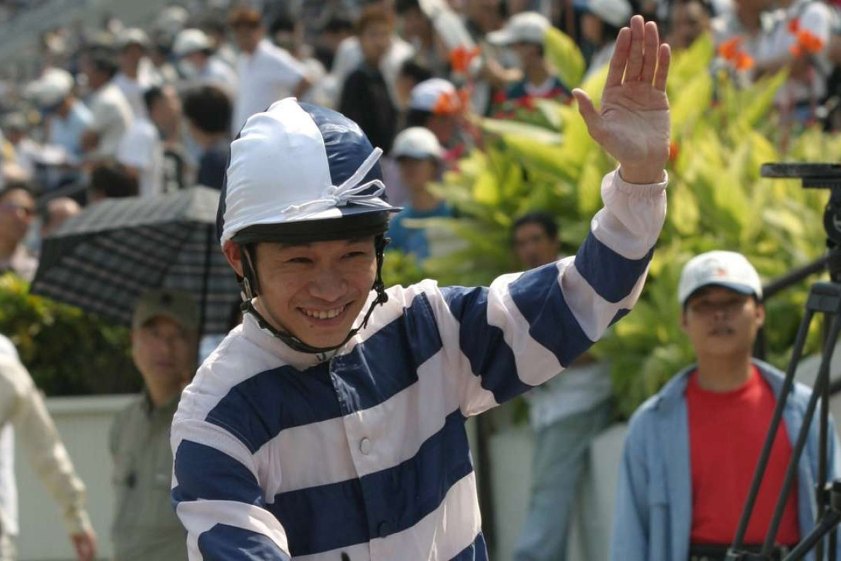 Jockey Jimmy Ting Khoon-ho waves goodbye after winning on First Knight during his last career ride at Sha Tin. He's one of the contenders for a training position with the Jockey Club. Photos: Kenneth Chan