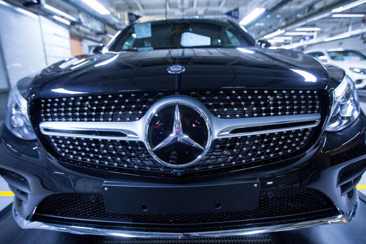 A Mercedes-Benz GLC SUV during final inspections at the luxury automaker's factory in Germany. Photo: Bloomberg