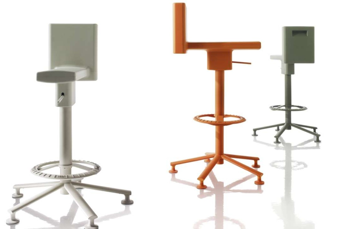 The 360° Stool designed by Konstantin Grcic for Magis.