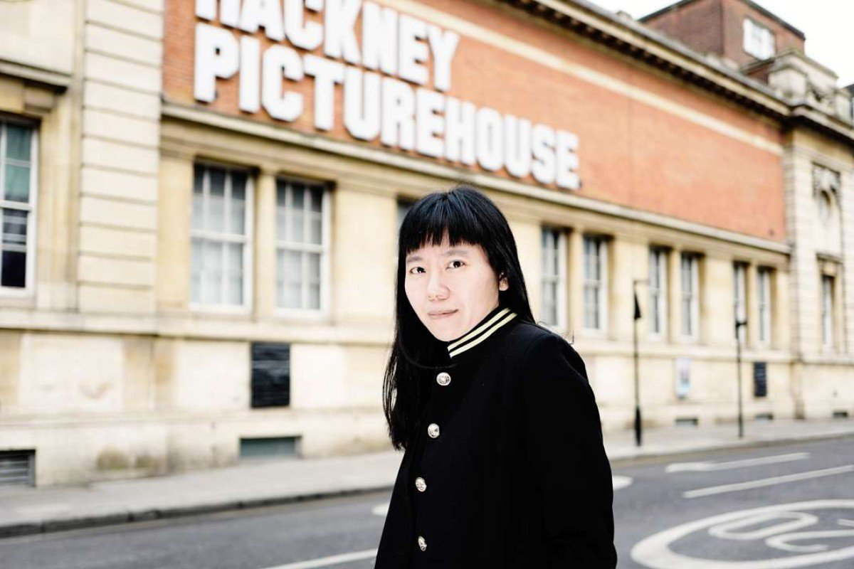 Xiaolu Guo outside the Hackney Picturehouse, London. Picture:: Ki Price