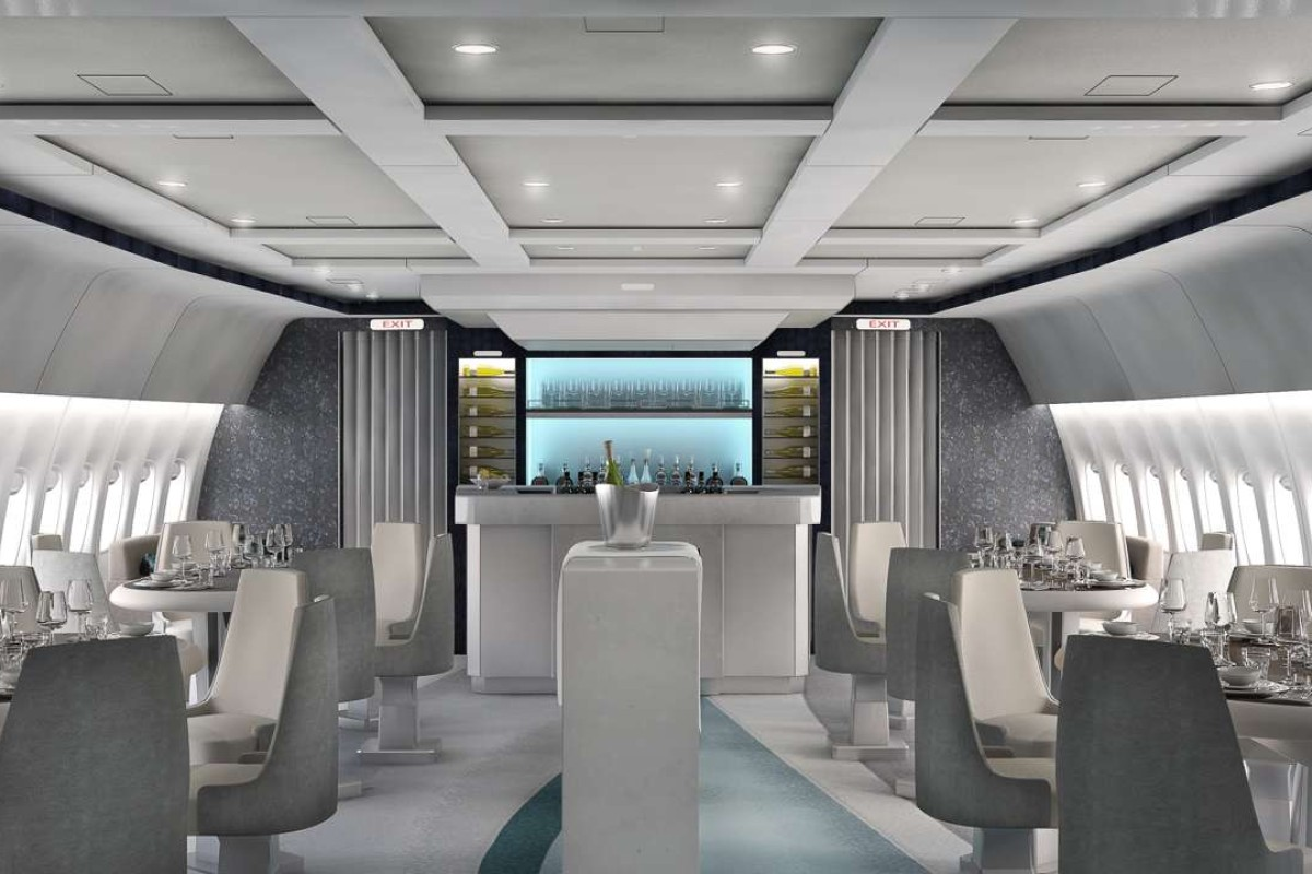 The Crystal AirCruises luxury Boeing 777-200.